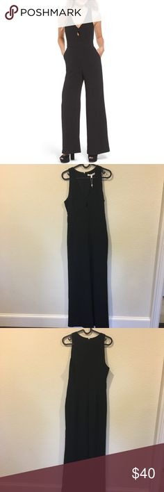 NWT WAYF black 'Sutton' front keyhole jumpsuit Captivating black front cut out jumpsuit! From the So Sage blog. No trades. Wayf Pants Jumpsuits & Rompers