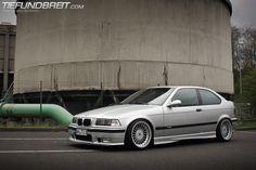 Very nice BMW e36 compact on Alpina wheels