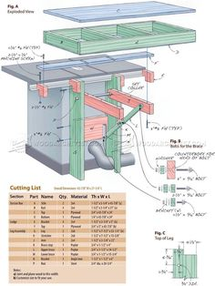 Folding Table Saw Outfeed Table - Table Saw