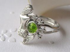 Popular items for silver mermaid ring on Etsy