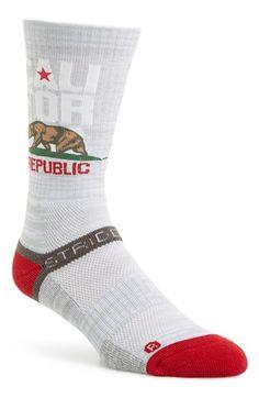 Men's STRIDELINE 'California' Socks - Grey