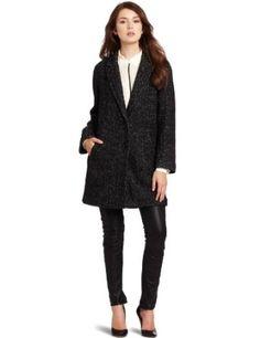Rebecca Taylor Women's Herringbone Coat, Black/White, Large Rebecca Taylor. $325.00