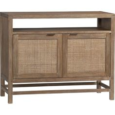 """Blake Grey Wash 42"""" Media Console in Media Centers, Storage   Crate and Barrel"""
