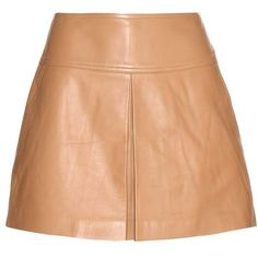 T by Alexander Wang Leather Miniskirt ($460) ❤ liked on Polyvore featuring skirts, mini skirts, bottoms, юбки, beige, red leather mini skirt, short mini skirts, leather skirt, real leather skirt and red leather skirt