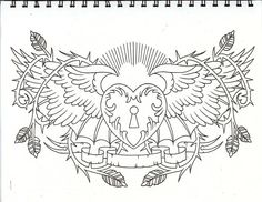 Heart Coloring Pages, Cool Coloring Pages, Mandala Coloring Pages, Chest Piece Tattoos, Chest Tattoo, Throat Tattoo, Girly Tattoos, Tatoos, Black White Tattoos