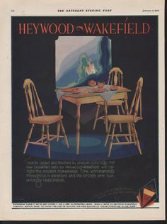 Ad for Heywood Wakefield