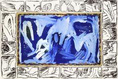 Pierre Alechinsky Jour balte, 1978-1992,  acrylique sur papier marouflé sur toile, 97 x 145,5 cm,  Paris, collection Nicolas Alechinsky