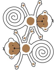 Dicas pra Festas Infantis: Macaquinho com molde pra festa Safári