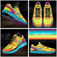My next pair: Custom Nike Lunarglide+ 3 - yes, please. #run #456 #running #sneakers #shoes #dope