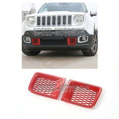 Front Bumper Air Inlet Cover Trim with Network Fit for Jeep Renegade 1.4T 15-16 #Speedmotoring