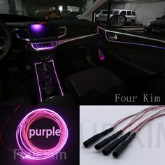 Car Interior Ambient Light Panel illumination For Car Inside Cool Strip Light Optic Fiber Band For Audi BMW Ford Toyota Acura