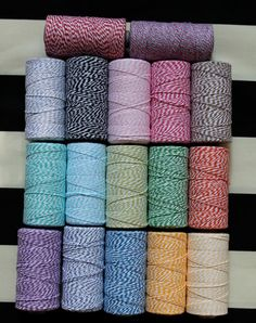 Bakers Twine 240 yards 2 Dollar Shipping 17 Colors by KurtKnudsen, $10.99