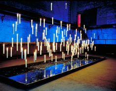 Amazing floating lighting for an event. Just the sort of thing that we love creating!