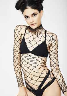 45dcfb1a041 The Damned Fishnet Bodysuit when you re queen of the damned. This long  sleeve