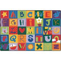 Toddler Alphabet Blocks Carpet (6' x 9') Carpets for Kids http://www.amazon.com/dp/B0055OM8S8/ref=cm_sw_r_pi_dp_DF2Bub0HSZFZX