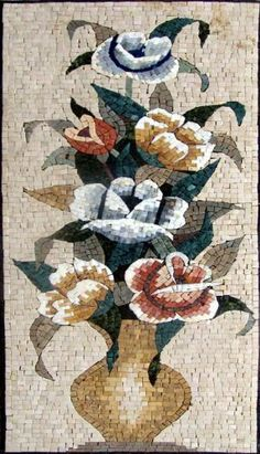 """20x40"""" Flower Marble Mosaic Floor Or Wall Insert Tile by mozaico. $237.00. Mosaics have endless uses and infinite possibilities! They can be used indoors or outdoors, be part of your kitchen, decorate your bathroom and the bottom of your pools, cover walls and ceilings, or serve as frames for mirrors and paintings."""