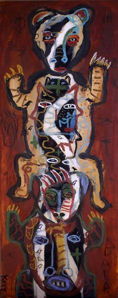 """Bear Totem"" by Santa fe artist Kelly Moore"