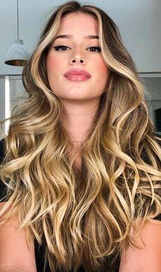 Blonde Asian Hair, Blonde Highlights On Dark Hair, Hair Color Asian, Blonde Hair Shades, Gorgeous Hair Color, Beautiful Long Hair, Hair Color For Tan Skin, Hombre Hair, Cabello Hair