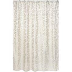 Invigorate the look of your bathroom with this ivory and champagne shower curtain. Constructed of durable polyester for easy care, this shower curtain is designed to easily coordinate with other Sweet JoJo accessories from the same line.
