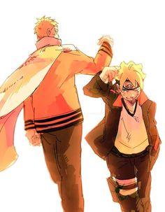 Naruto and Boruto Sasunaru, Naruto Uzumaki, Anime Naruto, Manga Anime, Sarada E Boruto, Naruto Sasuke Sakura, Fanarts Anime, Naruhina, Narusasu