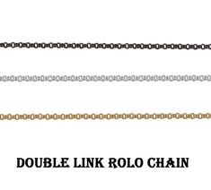 Double Ring Rolo Chain~~Brass Metal Soldered Chain~~Filled Rolo Link Chain~~Ring Link Chain Necklace~~Making Bracelet Chain Jewelry. (1486) Brass Metal, Brass Chain, Double Ring, Bracelet Making, Rings, Style, Rolo, Swag, Ring