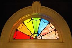 You can replicate a stained glass window pattern with decoupage.