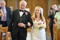 bride with dad walking down the aisle!