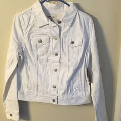 White Old Navy jean jacket. New with tags, never been worn. Old Navy Jackets & Coats Jean Jackets