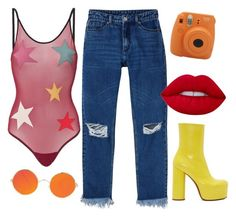 """""""fire escape"""" by chanelandcoke ❤ liked on Polyvore featuring LoveStories, Monki, Fujifilm, Lime Crime and Vetements"""