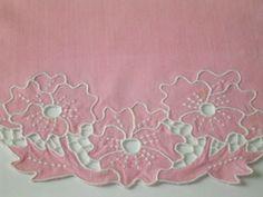 Vintage Pink Linen Summer Placemats