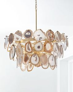 Agate Sliced 1-Light Chandelier by John-Richard Collection at Horchow.