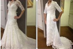 Beware the online discount wedding dresses: Angry brides share knock-off nightmares after buying gowns that looked stunning online but are HIDEOUS in real life. Horrible Wedding Dress, Wedding Dress Fails, Buy Wedding Dress Online, Wedding Dresses For Sale, Bad Dresses, Formal Dresses, Online Shopping Fails, Jessica Parker, Before Wedding