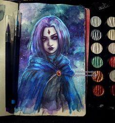 Inktober Day 5: Raven by NanFe