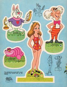 Alice in Wonderland Paper Doll High rez scans for printing.