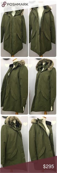 """Barbour Elper WB Jacket Womens Seaweed Faux Fur Barbour Elper WB Jacket Womens Seaweed Faux Fur Hoodie Waterproof  Sz 14 USA NWT  This is a brand new amazing jacket by Barbour. Retail for $399.-.  Waterproof and breathable. The good part is machine washable. Just need to follow care instruction Color is more like olive or seaweed. Features doouble zipper, inner pull string to give your waist a nice hug.  🐼Bundle up for more saving🐼  Length approx 33"""" Exterior 81% polyester, 19% cotton…"""