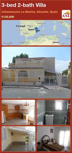 3-bed 2-bath Villa in Urbanizacion La Marina, Alicante, Spain ►€125,000 #PropertyForSaleInSpain