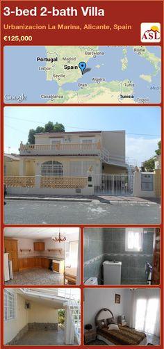 3-bed 2-bath Villa in Urbanizacion La Marina, Alicante, Spain ►€125,000 #PropertyForSaleInSpain