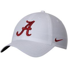 f57bf36cf5068 Men s Nike White Alabama Crimson Tide Heritage 86 Authentic Adjustable  Performance Hat