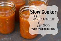 Slow Cooker Marinara Sauce (with fresh tomatoes) #paleo