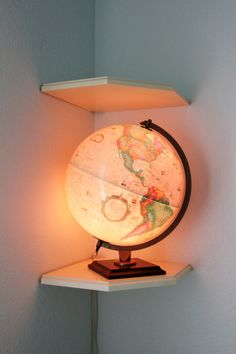 Travel Themed Gender Neutral Nursery Globe Nightlight - perfect in a travel theme nursery or kids ro Travel Theme Nursery, Baby Nursery Themes, Baby Boy Nurseries, Nursery Room, Girl Nursery, Travel Bedroom, Themed Nursery, Nursery Ideas, Room Ideas