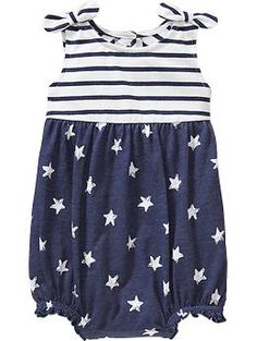 Stars-and-Striped Bubble Rompers for Baby | Old Navy