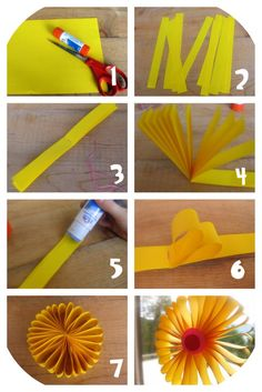 fleurs, papier, pliage, bricolage enfants,recyclage