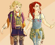 Such cute artwork by fatima-fati ~ Linny ~ HP Femslash ~ Harry Potter ~ Rebel Girlfriends ~ Luna Lovegood ~ Ginny Weasley Fanart Harry Potter, Harry Potter Ships, Harry Potter Love, Harry Potter Universal, Harry Potter Fandom, Harry Potter Memes, Potter Facts, Ginny Weasley, Hermione Granger