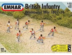 The Emhar 1/72 British Infantry Peninsula War 1807-14 from the plastic figure models range accurately recreates the real life British soldiers who fought in the Peninsula War of 1807 to 1814. This model requires paint and glue to complete.