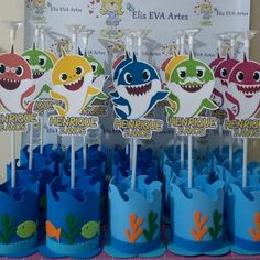 Discover recipes, home ideas, style inspiration and other ideas to try. Shark Party Decorations, Birthday Balloon Decorations, Baby Boy 1st Birthday Party, 2nd Birthday Parties, Festa Mickey Baby, Baby Shark, Churro, Ideas, Construction Birthday Parties