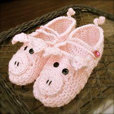 Ravelry: LBK63's Camryn's Piglet Slippers