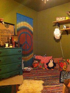 My own hippie bedroom! #hippiebedroom #colorful #hippie #bedroomdesign
