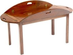 English Mahogany Butler Tray Table.  Wish they would make one with a shelf underneath.