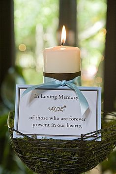 a nice tribute to those who have passed-could work for any special occasion not just a wedding