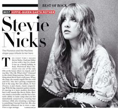 stevie nicks best hippie-queen earth mother